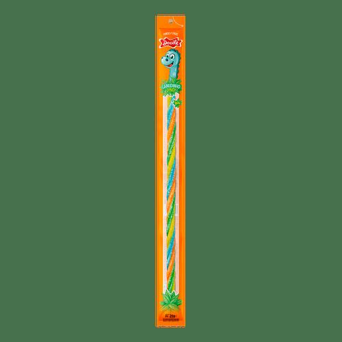 Canudinho Twist Colorido Morango Cítrico Dino Big 26g