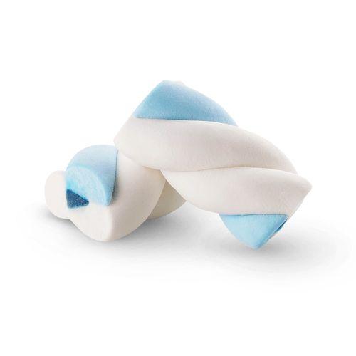 Marshmallow Recheado Twist Azul e Branco 220g